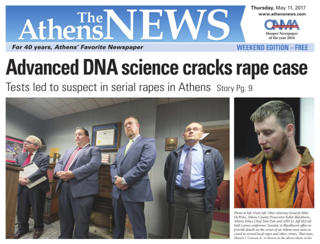 [IMAGE] The Athens News Front Page: Advanced DNA Science Cracks Rape Case
