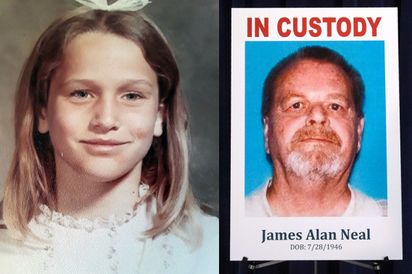 [IMAGE] Left: Victim, 11-Year-Old Linda O'Keefe; Right: Accused Murderer, James Alan Neal